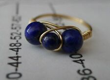 Unusual Lapis Gold Filled Wire Rings Sizes 4 -13.5 Choose your size