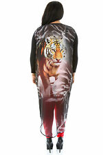 Tiger Overlay Top Casual Cocktail Party Popular Fashion giti online  Plus Size
