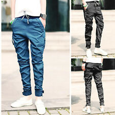 Mens Womens Casual Harem Baggy HIPHOP Jogger Cuffed Trousers Slim Fit Pants