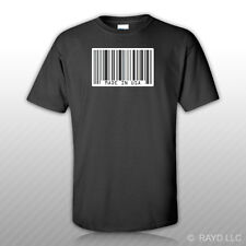 Made In USA Barcode T-Shirt Tee Shirt Free Sticker jdm haters upc america