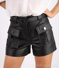MARCIANO GUESS Sonali Genuine Leather Front Shorts NWT