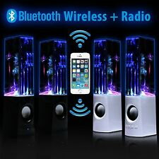 LED Dancing Water Fountain Music Computer Bluetooth Speakers For Laptop iPhone