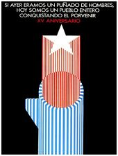 9655.Si ayer eramos un puñadoRed star rising.POSTER.decor Home Office art