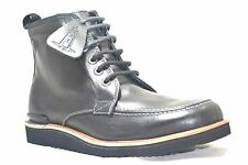 Rockport Eastern Empire Moc Toe Black Leather Mens Casual Lace Up Boots SA12359