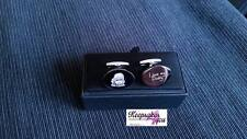 Personalised Premium Oval Cufflinks With Engraved Photo & Text With Gift Box