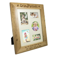 NEW PERSONALISED WOODEN GRANDPARENTS PHOTO FRAME - 10x8 or 5x7 YOUR MESSAGE