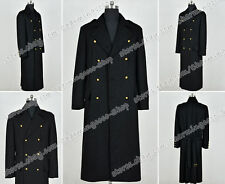 Torchwood Cosplay Dr Captain Jack Harkness Costume Black Wool Coat Hot Sale New