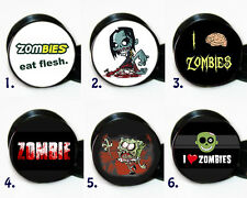 Choose a pair of Zombie Image ear gauges tunnel screw back plugs