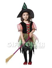 NEW Witch Child Kids Halloween Costume Dress Outfit Cosplay Girl Age 4-12