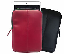 "Wilsons Genuine Leather Padded Protective Slip-on Sleeve Case for 7"" Tablet iPad"