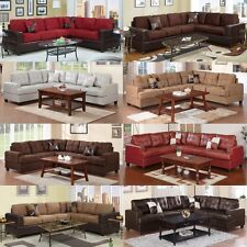 Modern Contemporary Microfiber Sectional sofa Leather Sofa Furniture Loves Couch
