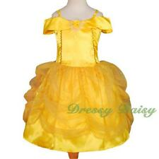 Belle Princess Costume Halloween Fancy Party Dress Up Kid Size 3 4 5 6 7 8 #017