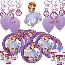 Sofia The First 1st Disney Princess Party Supplies, Plates, Cups, Decorations