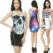 New Arrivals!! Fashion Galaxy Digital Print Cocktails Party Dress Women Costumes
