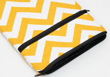 Kindle Paperwhite Case, Kobo Glo Cover, iPad Mini sleeve - yellow chevron fabric