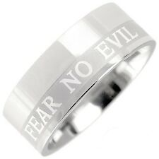Comfort Fit Stainless Steel Christian Bible Verse Ring