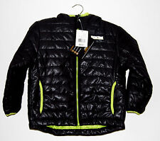 NWT Pacific Trail Boys Black with Lime Polyester Hooded Puffer Jacket
