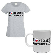 I LOVE MY CZECH BOYFRIEND - Czech Republic / Gift / Women's T-shirt & Mug Set