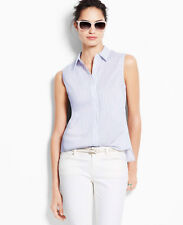 Ann Taylor – Misses' 4, 6, 8, 14 Perfect Stretch Cotton Sleeveless Shirt $69.50