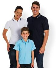 Adults Mens Kids Boys Girls Fine Knit Polo Shirt School Work Uniform New 2FKP