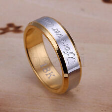 Men Foever Love Silver Plated Ring 2 Size 8# 9# to choose MA