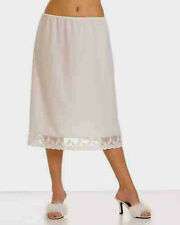 "100%COTTON Underskirt Waist Slip Half Slip  25"" Finish(WHITE CREAM OR BLACK)"