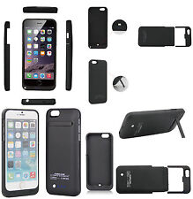 """External Battery Backup Power Bank Charger Cover Case for iphone 6 4.7"""" & 6 Plus"""