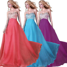 ❤US CHEAP❤ Long Beaded Corset Evening Prom Formal Party Pageant Club Maxi Dress