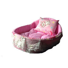 Pet dog warm Lace Princess Bed house Fabric bed soft kennel dog bed dog mat