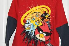 Angry Birds Space Boys Toddler Shirt Red with blue sleeves 2T, 3T or 4T Cotton