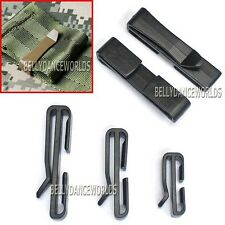 2 X MOLLE TACTICAL WEBBING CLIPS FASTENER BUCKLE FIX LOCK EXTRA HANGING STRAPS
