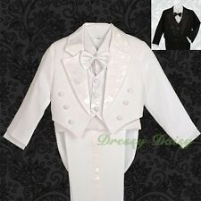 5pc Formal Tuxedo Suit Wedding Pageboy Occasion Christening Outfit Size 0-9 #011