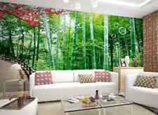3D Green bamboo Fresh Wall Murals Wallpaper Decal Decor Home Kids Nursery Mural
