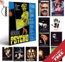 CLASSIC HORROR SCARY THRILLER MOVIES A4 Posters * Vintage Film Cinema Wall Art