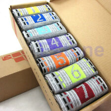 Hot Candy Color Included Mens Cotton Week Ankle Socks 7 Days Of The Week 7 Pairs