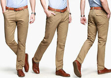CHEAP NEW Stylish Men Slim Fit Long Casual Pants Cotton Stretch Pencil Trousers