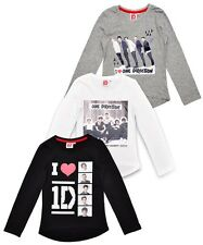 Girls One Direction Long Sleeved T-Shirts Kids Teens 1d Age 8, 10, 12& 14 Years