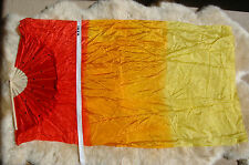 Praise Worship Dance Fire Flag Fan Bamboo Silk Fans Veils Hand Made Silk Fan