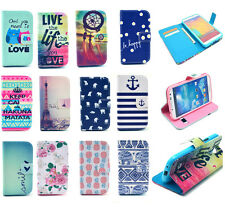 New Fashion Painted Leather Wallet Card Stand Flip Cover Case for Samsung Galaxy