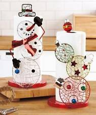 ORNAMENT OR SNOWMAN CHRISTMAS PAPER TOWEL WHIMSICAL HOLDER HOLIDAY KITCHEN FUN