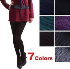 FD1125 Womens Knit Winter Leggings Footed Warm Cotton Stockings Thick Tights New