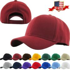 Velcro Baseball Cap Blank Plain Solid Sports Visor Sun Golf ball Hat Men Women