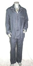 NWT 75$ Black Brown 1826 men's sleepwear Woven Pajama Set Fleece Navy M, L, XL