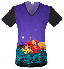 Cherokee Scrubs The Lion King Scrub Top 6624CB LKLK