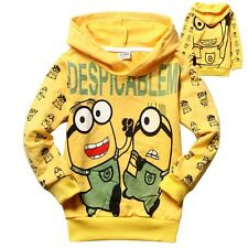 Despicable Me Minionst Boys Sweatshirts & Hoodies Kids Clothes Coat 2-8Years