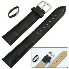 14mm 16mm 18mm 20mm 22mm Leather Strap Wrist Watch Band Mens Womens KIds Black