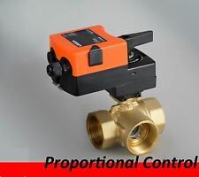 3 Way 24VDC/AC On/Off Proportional Modulating Motorized Electric Ball Valve