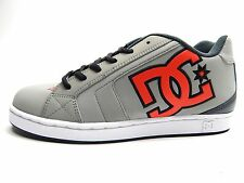 DC NET GREY GREY RED MEN SHOES 9-13 SKATEBOARDING