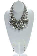 Multi Pearls Layers Statement Necklace and Earring Set More Colors Available