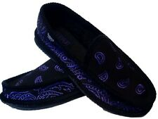 BLACK AND PURPLE  BANDANA HOUSE SHOES SLIPPERS TROOPER BRAND NEW 8 9 10 11 12 13